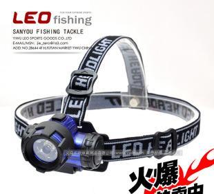26858 LEO/乐欧 【强光3W大功率LED头灯】 矿灯夜钓鱼专用98g渔具;