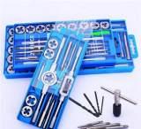 公制27件手动丝攻丝锥板牙组套装组丝攻扳手、板牙扳手M5-M16;