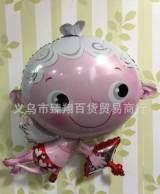 新款推荐! 卡通丘比特铝膜气球结婚装饰气球儿童玩具飘空氢气 球;