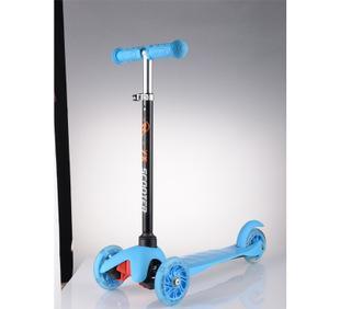 厂家直销 国产米高儿童三轮滑板车蛙式车配闪光轮 一件代发;