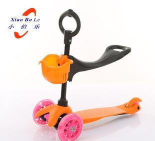 童车厂家批发儿童三轮踏板轮滑板车三合一可升降单板滑板车小伯乐;