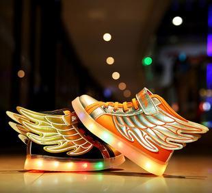 Производители продают детей светодиодная лампа обувь обувь осень - зима серебристые обувь мальчиков и девочек, досуг бренд спортивной обуви flash