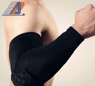 加长篮球护肘护具 蜂窝防撞运动护臂 nba护手臂 长款袖套厂家批发