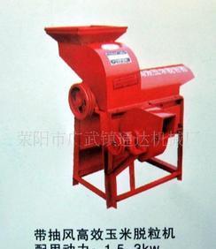 供应带抽风高效拖拉机配套玉米脱粒机;