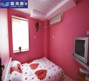竹碳净味18l内墙乳胶漆 室内装修涂料 粉红色内墙漆防霉遮盖力好