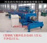 供应80-300全自动飞锯切断冲孔C型钢设备;