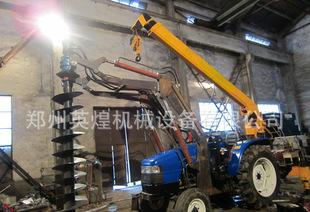 厂家直销电线杆 植树挖坑机 拖拉机配套挖坑机 挖坑立杆一体机;
