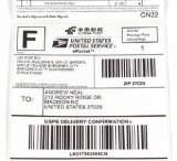 热敏纸标签纸100*100*500 热敏不干胶 国际物流快递/E邮宝标签纸;