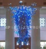 供应 玻璃吊灯 艺术吹制玻璃灯饰 酒店灯饰 吊灯;