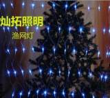 圣诞新年装饰灯LED渔网灯彩灯闪灯串婚庆用装饰灯串厂家直销;