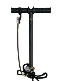 广兴气动 GX 30 MPA 高压打气筒 碳纤维 蝴蝶可折叠脚踏板;
