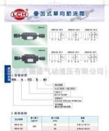 叠加式节流阀MSW03XI 出口节流;