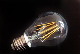 三德士led灯丝灯 复古爱迪生钨丝灯泡 螺口led蜡烛灯玻璃E14灯泡;