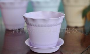 维罗纳品牌 紫色塑料小花盆 塑料花盆容器 室内植物花盆 圆形盆;
