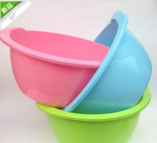 厂家直销家用塑料盆洗衣洗脸盆多用途双耳加深加厚盆促销赠品盆;