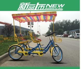 厂家直销 双人自行车 景点观光车 四轮双人骑自行车 厂家直销;
