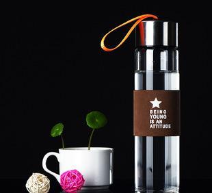 厂家直销玻璃杯透明玻璃礼品杯广告促销水杯子可印字logo定制批发;