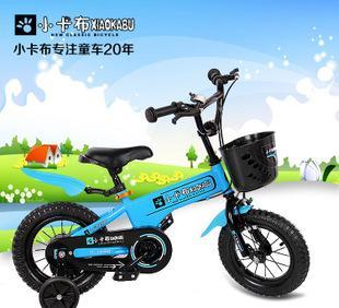 厂家直销小卡布品牌儿童自行车12 14 16寸碳钢车运动型童车;