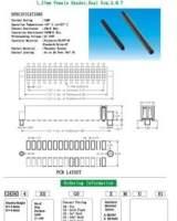 【厂家直销】2.0mm间距 双排弯排针排母 双弯插针 双排贴片排针;