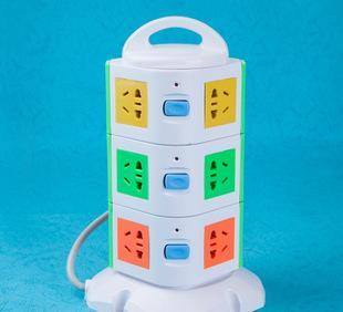 柯玛斯插座KMS-903立式USB插座 3米 多功能接线插板插排插线板;