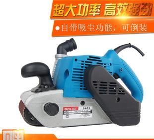 摩谊砂带机手提式砂光机金属抛光机平面打磨机大功率木工砂纸机;