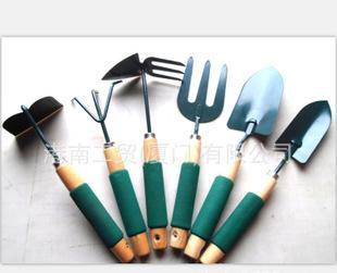 海绵柄园林工具/花卉工具6件套 /铲子/ 叉子/ 锄头/ 爪子/ 花园工;