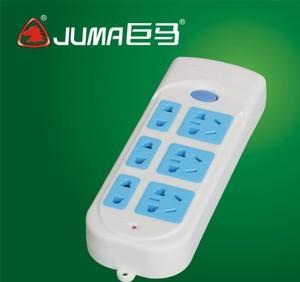 供应JM205米安全插座 工程专用无线接线板 安全插排插座;