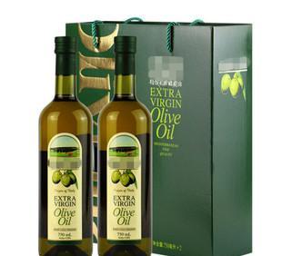 上海印刷厂生产供应橄榄油双瓶装礼盒 规格外观可定制加印logo