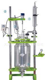 三层玻璃反应器 三层玻璃反应釜 YHGSF-100L;