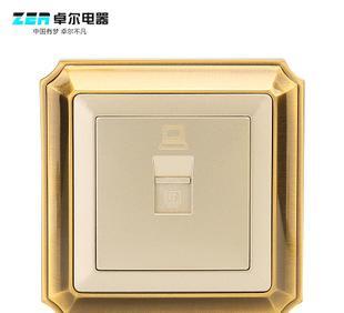 卓尔电器 厂家直销墙壁开关电源插座 86型一位八芯电脑插座铜面;