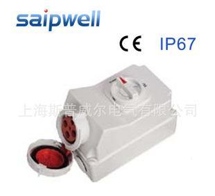 供应saipwell赛普机柜机械联锁插座 机械连锁插座sp-5110/4p63a;
