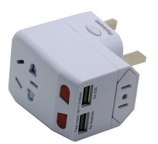 多功能旅行转换插座 双usb接口 插座哥;