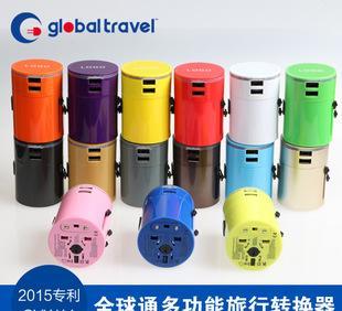 全球转换插头3A双USB转换插座万能插头SYW11专利旅行插座;