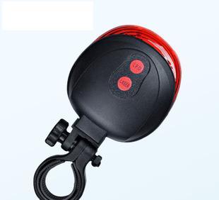 山地车安全警示灯自行车激光尾灯 5LED平行线激光镭射尾灯 批发;