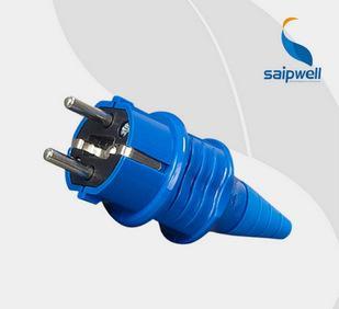 赛普批发 SP10838两极电源插头 工业蓝色防水插头 16A/230V插头;