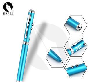 深圳制笔厂OEM定制四合一LED灯广告圆珠笔 多功能触屏笔 激光电容