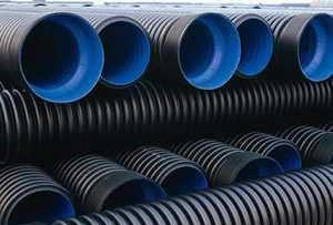 厂家直销HDPE双壁波纹管 排污管 黑色pe管 排水管(宁波欧美斯);