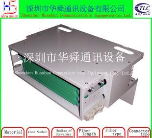 ODF光纤配线架单元 48芯FC/APC光缆熔接单元满配 含法兰尾纤;