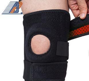 专业骑行登山护膝 冬季保暖户外运动护膝盖 OK布防滑四弹簧护具