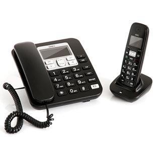 得力deli 791数字无绳电话 商务电话机 高保密通话 子母电话机;