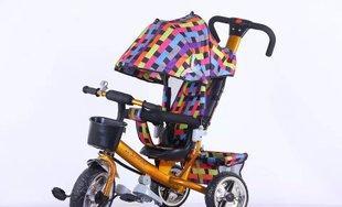厂家直销 四合一儿童三轮车 手推车 可折叠遮阳蓬车;