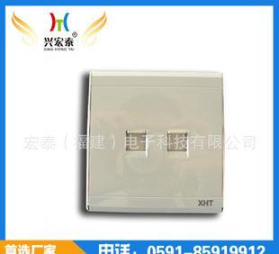 专业生产 H60银白双电脑插座 墙壁信息插座 二孔网线插座面板;