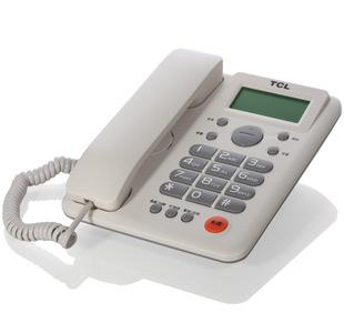 电话机批发 TCL203多功能来电显示免电池双接口办公电话机座机;