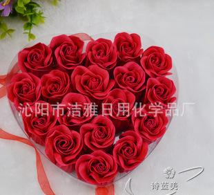 Manufacturers selling creative wedding promotional gifts 18 flower wholesale rose flower soap box PVC