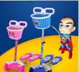 纯手工编织儿童自行车车篮车筐童车通用型车篮塑料编织车筐;