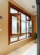 【林嘉旭利】批发供应 铝包木居门窗 原木色对称时尚铝包木门窗;