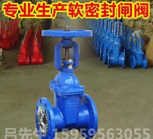 厂家直批软密封明杆弹性座封闸阀 阀门 上海品牌 优质铸铁 大体
