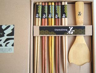 若五木,五木筷,木筷子套装礼品套装、竹木筷陶厂家直销批发