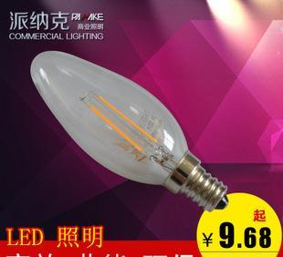 派纳克 led球泡灯E14螺口灯丝灯 2W玻璃复古灯泡 厂家批发;