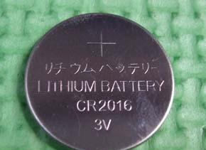 工厂供应 发光玩具 电子产品专用CR2016纽扣电池 纽扣电子;